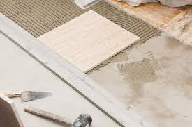 How To Lay Floor Tile In A Bathroom - laying a ceramic tile floor