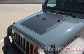 jeep wrangler 2017 blacked out 2007 2017 jeep wrangler outfitter oem factory style hood blackout