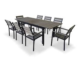 9 piece dining room set 9 piece eco wood extendable outdoor patio dining set rustic gray