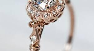 vintage fashion rings images Vintage style rose gold engagement rings wedding promise jpg