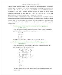 geometric sequence examples u2013 10 free word excel pdf format