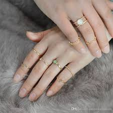 girl finger rings images Charm gold color finger ring sets for women girl vintage punk boho jpg