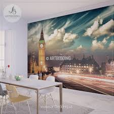 city home decor london big ben wall mural london city photo mural london wall