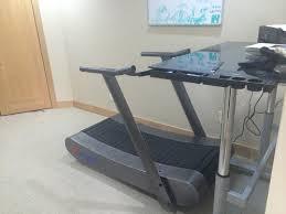 Standing Desk Treadmill Trueform Runner Non Motorized Curved Treadmill Samsara Fitness