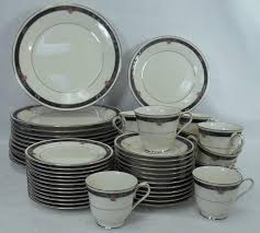noritake china etienne 7260 pattern 60 set service for