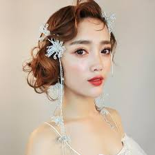 hair chains bridal jewelry korean princess lovely headdress flowing hairgrip