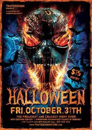 Halloween Flyer Design Templates For Photoshop V1