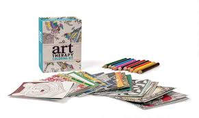 art therapy coloring kit miniature editions sam loman