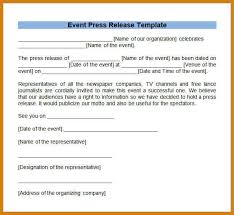 event press release template 100 images 10 best images of