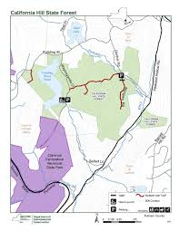 state map of california california hill state forest map nys dept of environmental