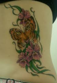 butterfly tattoos tiger in butterfly tattoos