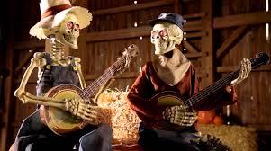Halloween Skeleton For Sale by Dueling Animated Banjo Skeletons Grandin Road Youtube