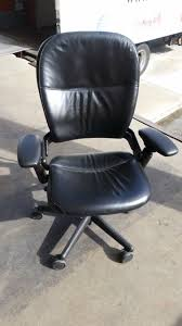 Leather Office Chair Front Steelcase Leap V1 Task Chair Dynamic Office Services