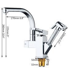 Tap Kitchen Faucet Chrome Handhold Shower U0026dual Spout Swivel Kitchen Sink Faucet Mixer
