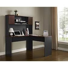 Hutch Transmission Altra Furniture The Works Hutch In Cherry And Slate Gray Walmart Com
