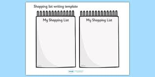 template for shopping list free printable grocery list and