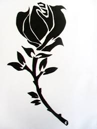 tribal tattoo with roses x free images at clipart library