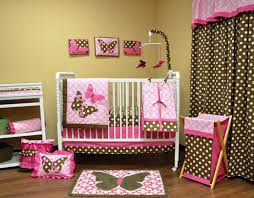 Baby Crib Decoration by Transform Pink And Brown Polka Dot Crib Bedding Magnificent Home