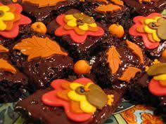 pumpkin patch rocky road brownies haloween treats