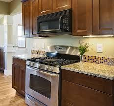Kitchen Backsplash Glass - chic kitchen on glass tile kitchen backsplash ideas barrowdems