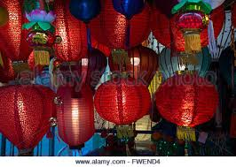 new year lanterns for sale lanterns on sale in a store in chinatown in stock