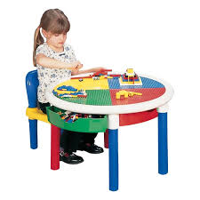 liberty house toys children u0027s round lego table u0026 reviews wayfair