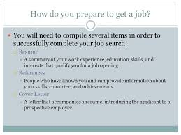How Do You Do A Job Resume by Job Application Skills And Tools Ppt Download