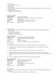 Executive Secretary Job Description Resume by Resume 2 Diana