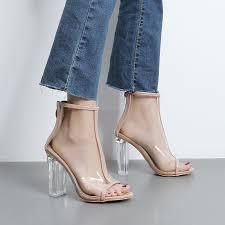 summer shoes woman 2017 gladiator sandals women transparent shoe