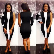 o neck long sleeve black polyester sheath knee length