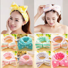korean headband fashion korean rabbit ear soft towel hair band wrap tie headband