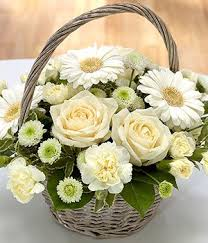 flower basket memories flower basket white flower basket delivered