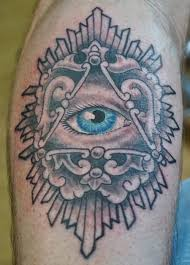 outstanding black ink traditional eye tattoo design made by