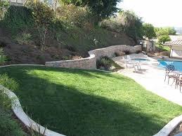 slope yard design landscaping and gardening design