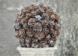 pine cone topiary step by step tutorial somewhat simple