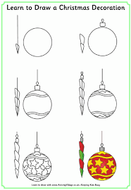 ornaments drawing pencil and in color