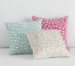 mini embellished decorative pillows pottery barn