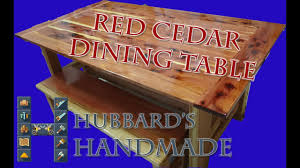 Redwood Dining Table 2x6 Redwood And Red Cedar Dining Table Youtube