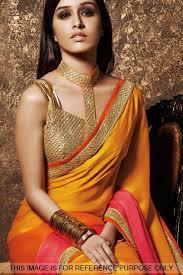 golden blouse buy shraddha kapoor inspired fancy golden sleeveless designer