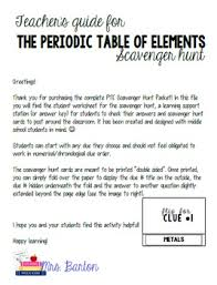periodic table packet 1 answers periodic table of elements scavenger hunt packet by science with mrs