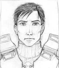 halo master chief sketch by doublevisionary on deviantart