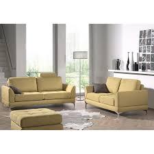 canapé fixe 2 places tissu ensemble canapé fixe 3 2 places jaune en tissu sofamobili