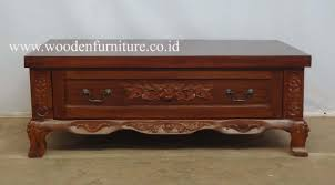 Teak Wood Furniture Classic Living Room Furniture Teak Carved Coffee Table Antique