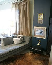 Blue Burlap Curtains Unconventional Ways To Hang Curtains Hessian Linens And Walls