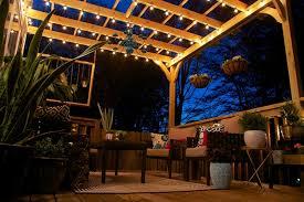 Outdoor Pergola Lights by Pergola String Lights Schwep