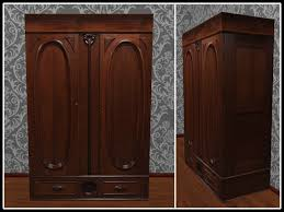 Clothes Wardrobe Armoire Second Life Marketplace Re Carved Wood Armoire One Prim