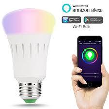 alexa controlled light bulbs lohas alexa smart led wifi bulb a60 e27 colour changing light bulb