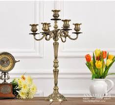 aliexpress com buy h54 cm 7 arm bronze floral metal candelabra