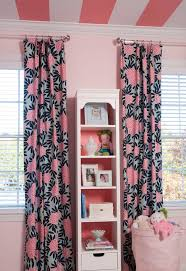 Pink And Navy Curtains Navy Fleur Chinoise Fabric Transitional S Room Benjamin
