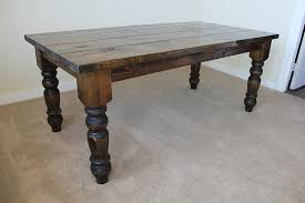 dark rustic dining table decor dark rustic kitchen tables baluster turned leg dining table
